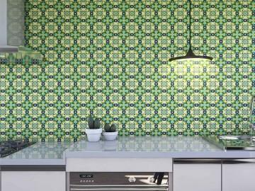 Papel de Parede para Cozinha Azulejos 0023 - Adesivos de Parede