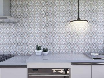 Papel de Parede para Cozinha Azulejos 0030 - Adesivos de Parede