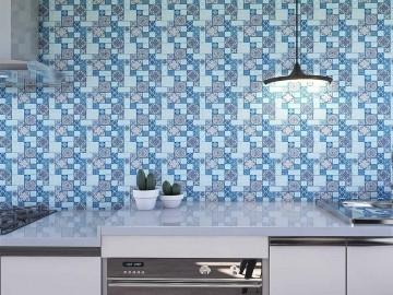 Papel de Parede para Cozinha Azulejos 0033 - Adesivos de Parede