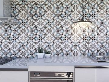 Papel de Parede para Cozinha Azulejos 0045 - PROMOÇÃO