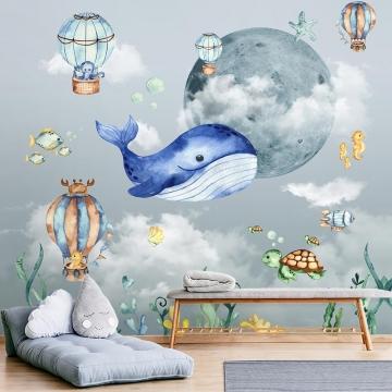 Papel de Parede 3D Infantil Adesivo Vinilico Balões 0012