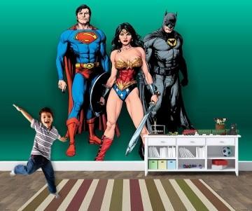 Papel de Parede para Quarto Infantil Super Heróis 0037
