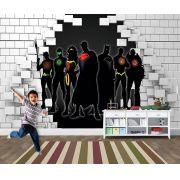 Papel de Parede para Quarto Infantil Super Heróis 0043