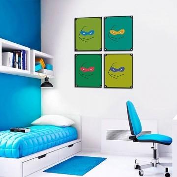 Quadro Decorativos Tartarugas Ninjas 0032