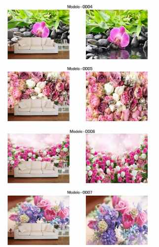 Papel De Parede Para Sala 3d Flores  - Paredes Decoradas