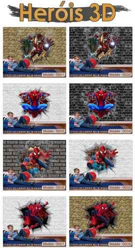 Papel de Parede 3D Herois
