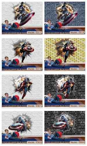 Papel de Parede 3D Herois  - Paredes Decoradas