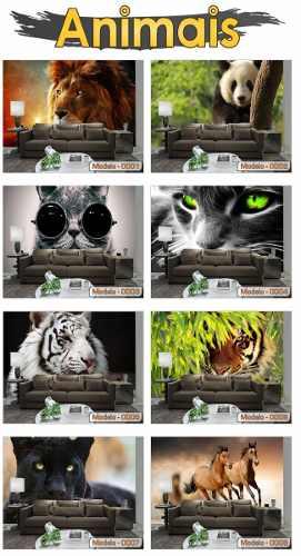 Papel de Parede 3D Animais - Sobmedida m²  - Paredes Decoradas