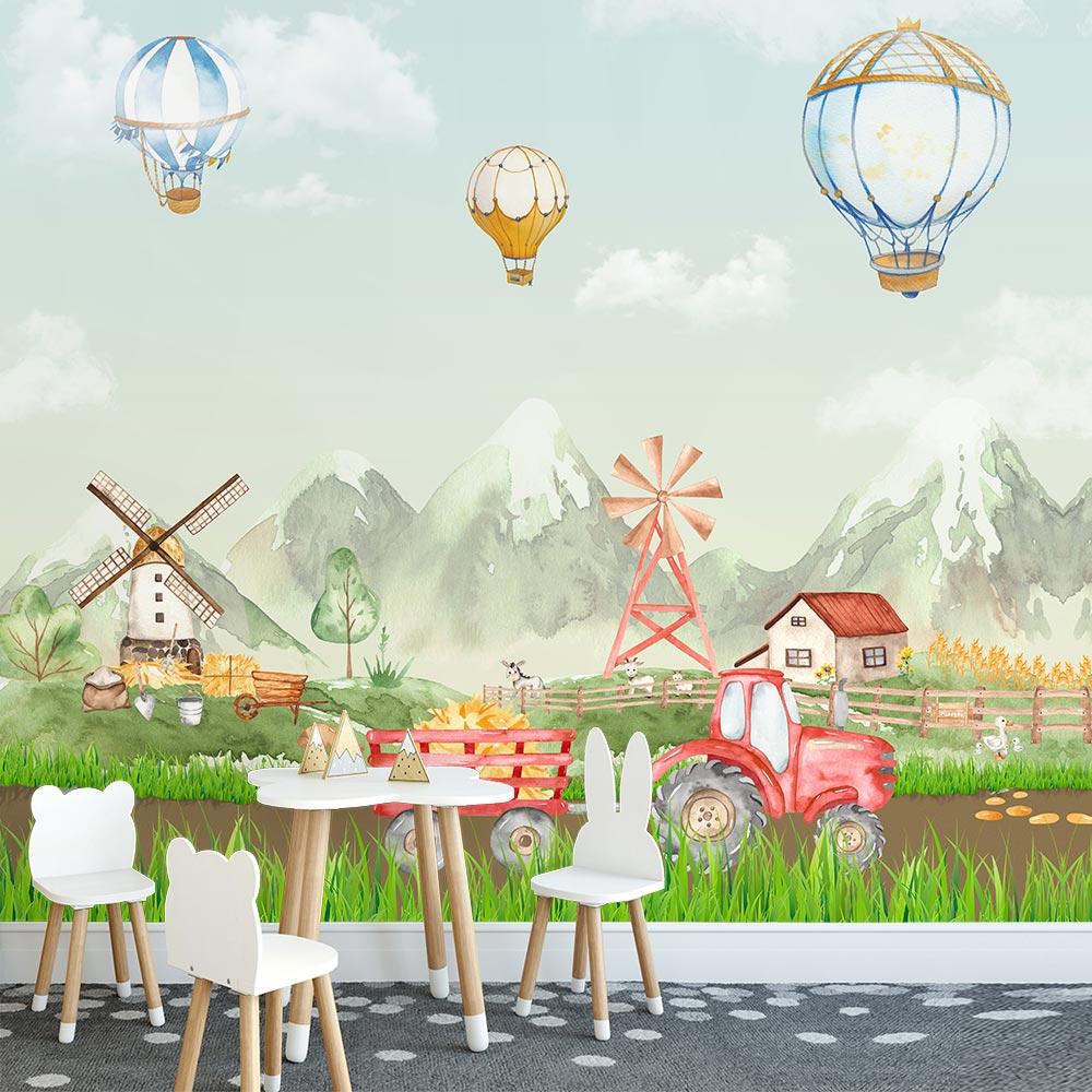 Adesivo de Parede Infantil Papel de Parede 3D Balões 0014