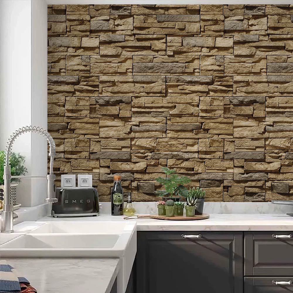 Adesivo de Parede Pedras Decoração para Sala e Quarto 0077