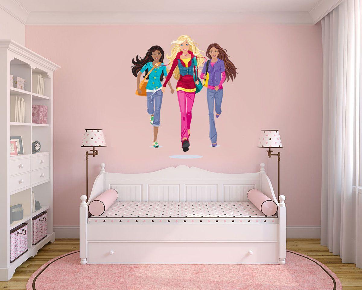 Adesivo Decorativo Barbie 0004  - Paredes Decoradas
