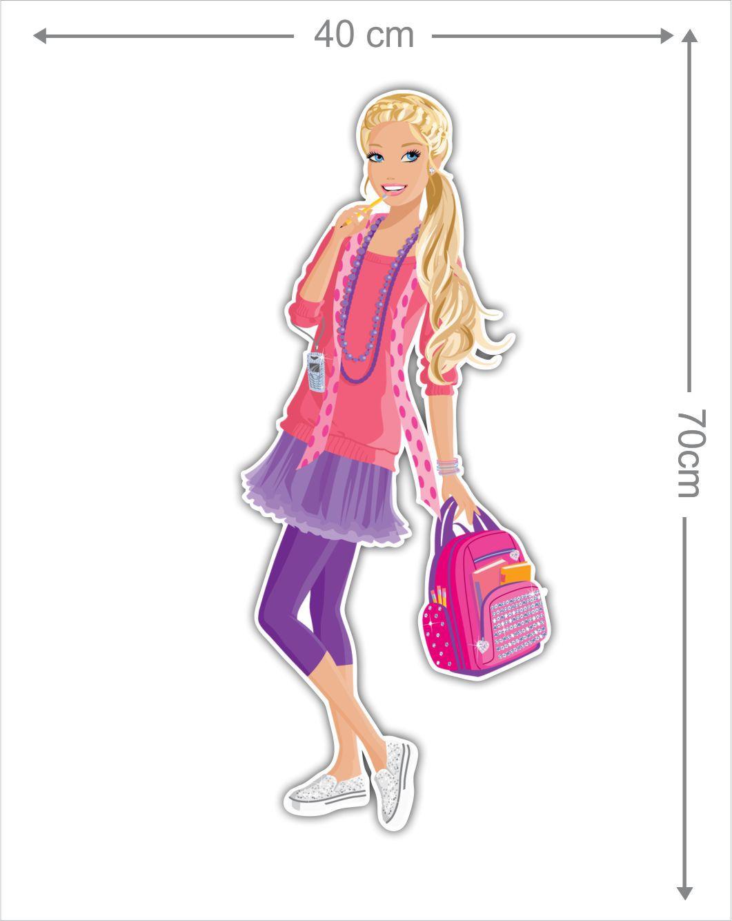 Adesivo Decorativo Barbie 0007  - Paredes Decoradas