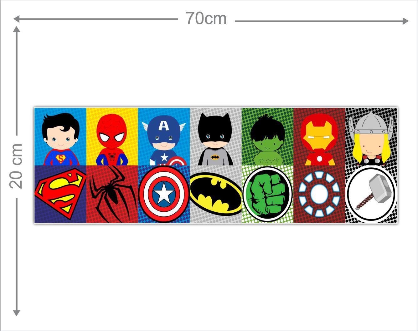 Adesivo Decorativo Heróis 0016  - Paredes Decoradas