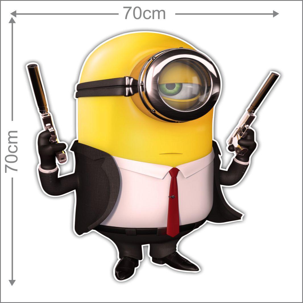 Adesivo Decorativo Minions 0010  - Paredes Decoradas