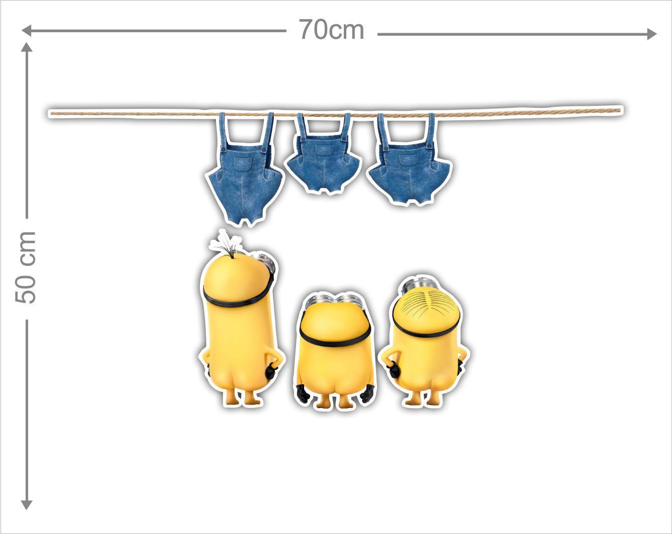 Adesivo Decorativo Minions 0015  - Paredes Decoradas