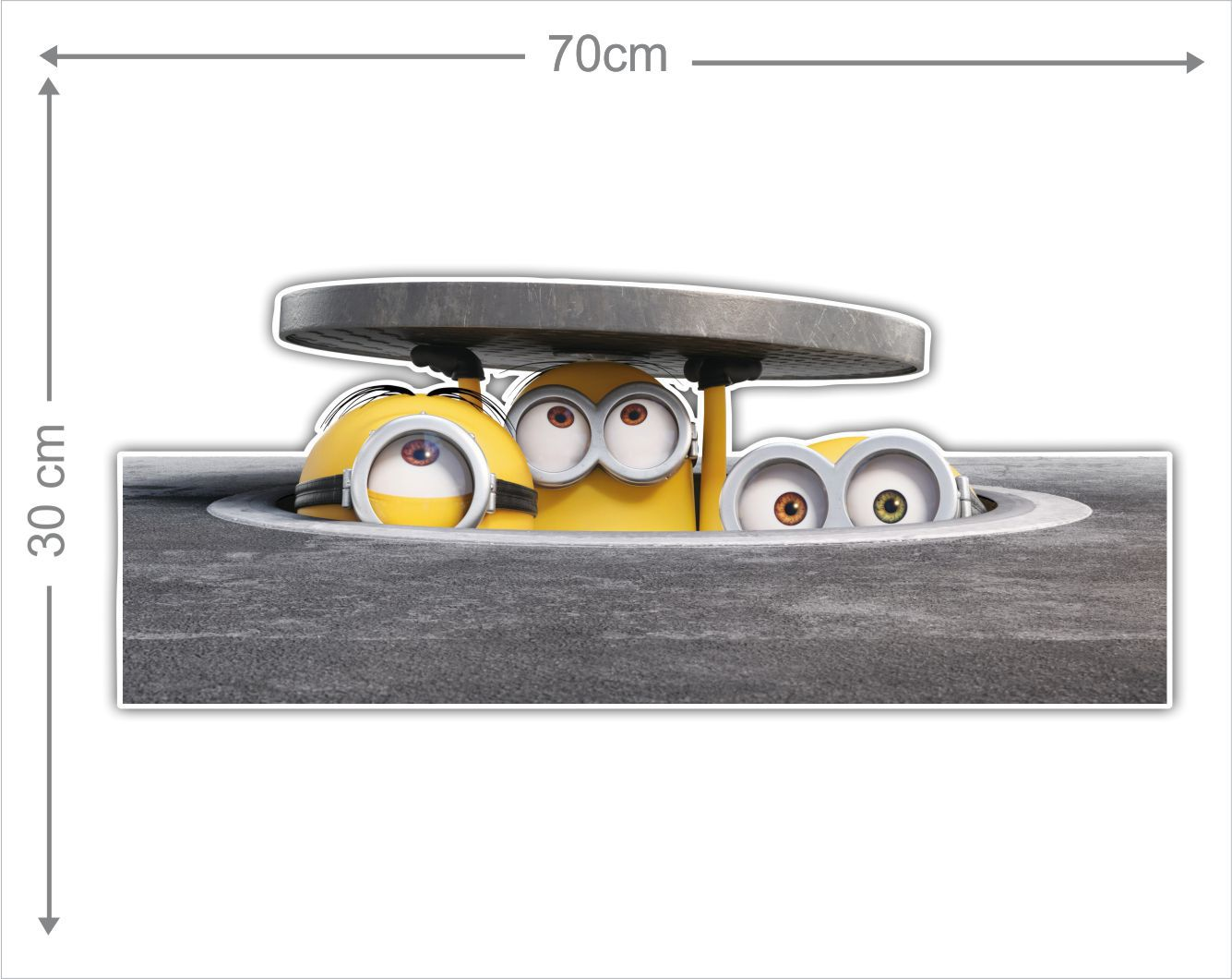 Adesivo Decorativo Minions 0019  - Paredes Decoradas