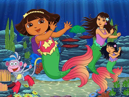 Papel de Parede Infantil Dora Aventureira 0002  - Paredes Decoradas