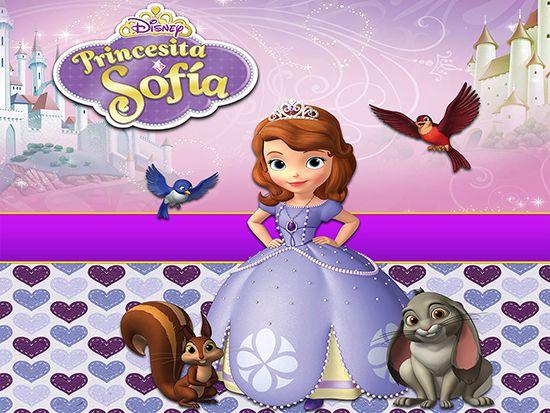 Papel de Parede Infantil Princesa Sofia  0021  - Paredes Decoradas