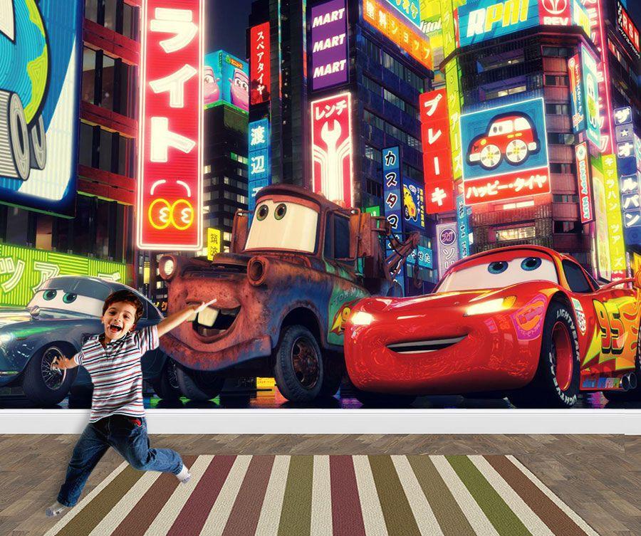 Papel de Parede 3D Carros  0020 - Papel de Parede para Quarto