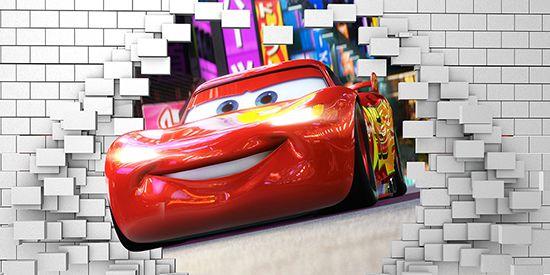 Papel de Parede 3D Carros  0028 - Papel de Parede para Quarto   - Paredes Decoradas