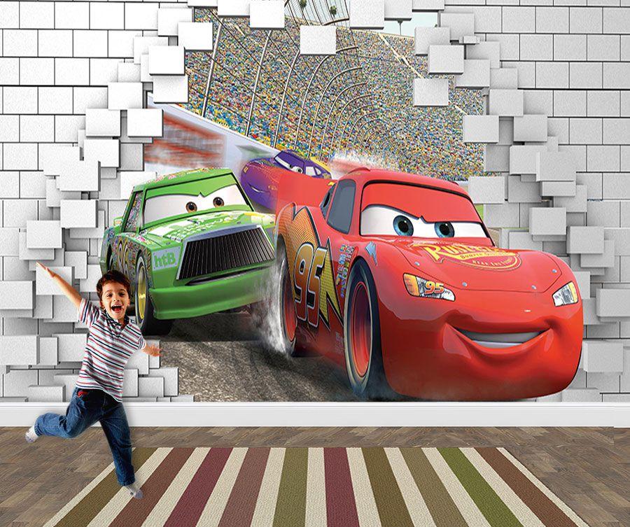 Pape de Parede 3D Carros  0029 - Papel de Parede para Quarto