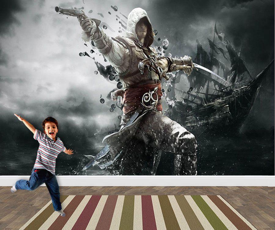 Papel de Parede 3D Games 0013 - Papel de Parede Para Quarto  - Paredes Decoradas