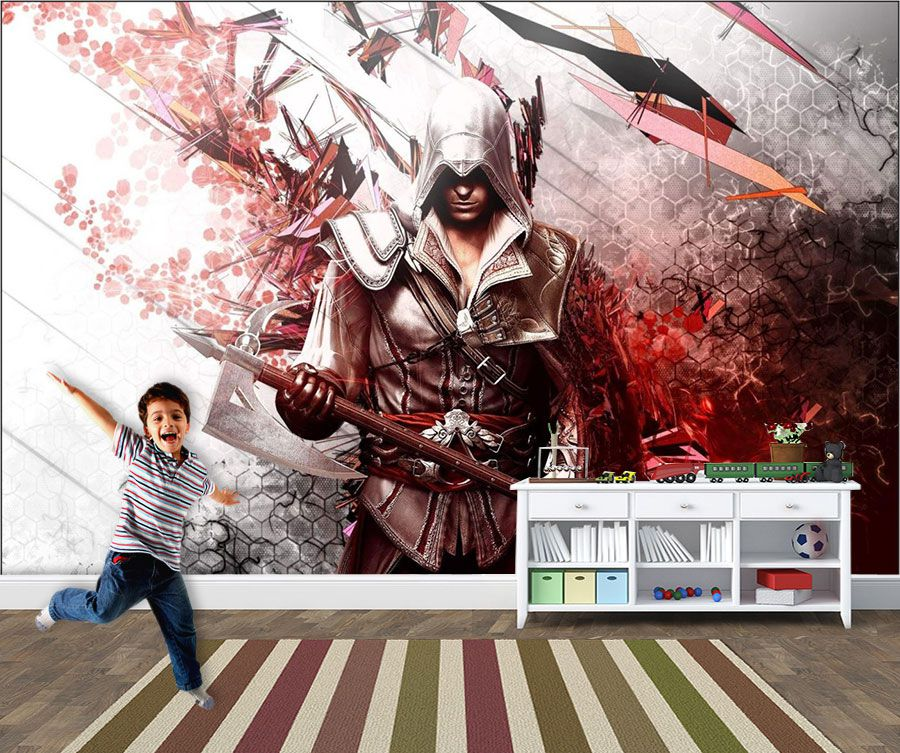 Papel de Parede 3D Games 0018 - Papel de Parede Para Quarto  - Paredes Decoradas