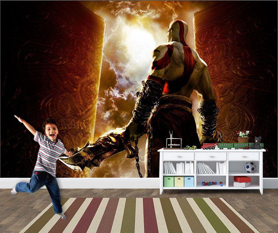 Papel de Parede 3D Games 0021 - Papel de Parede Para Quarto  - Paredes Decoradas