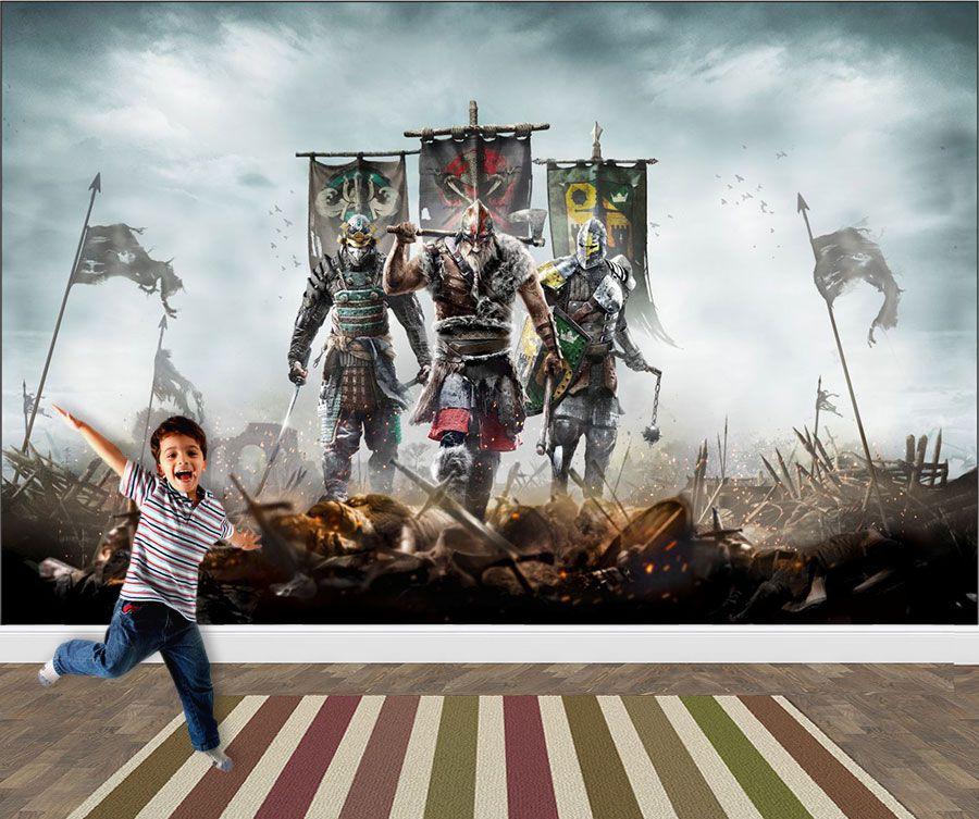 Papel de Parede 3D Games 0024 - Papel de Parede Para Quarto  - Paredes Decoradas