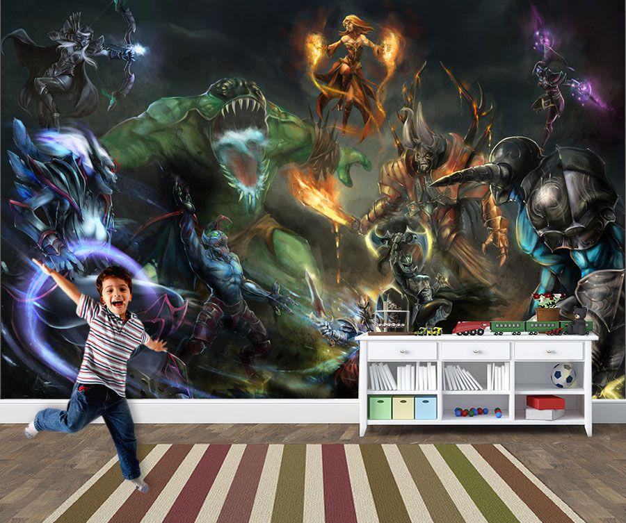 Papel de Parede 3D Games 0026 - Papel de Parede Para Quarto  - Paredes Decoradas