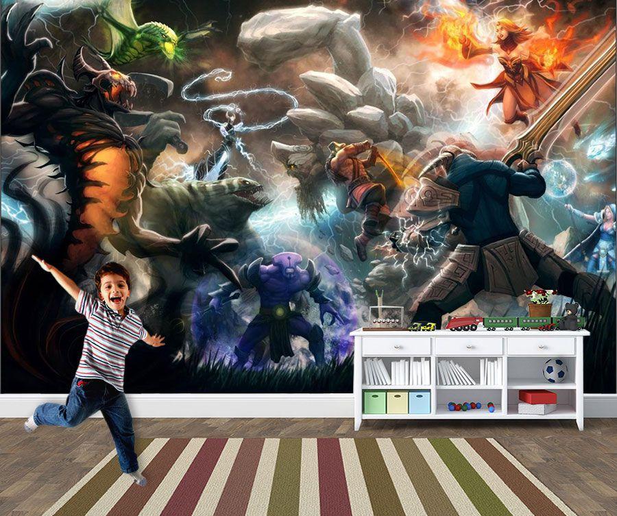 Papel de Parede 3D Games 0027 - Papel de Parede Para Quarto  - Paredes Decoradas
