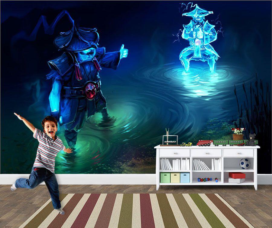 Papel de Parede 3D Games 0030 - Papel de Parede Para Quarto  - Paredes Decoradas
