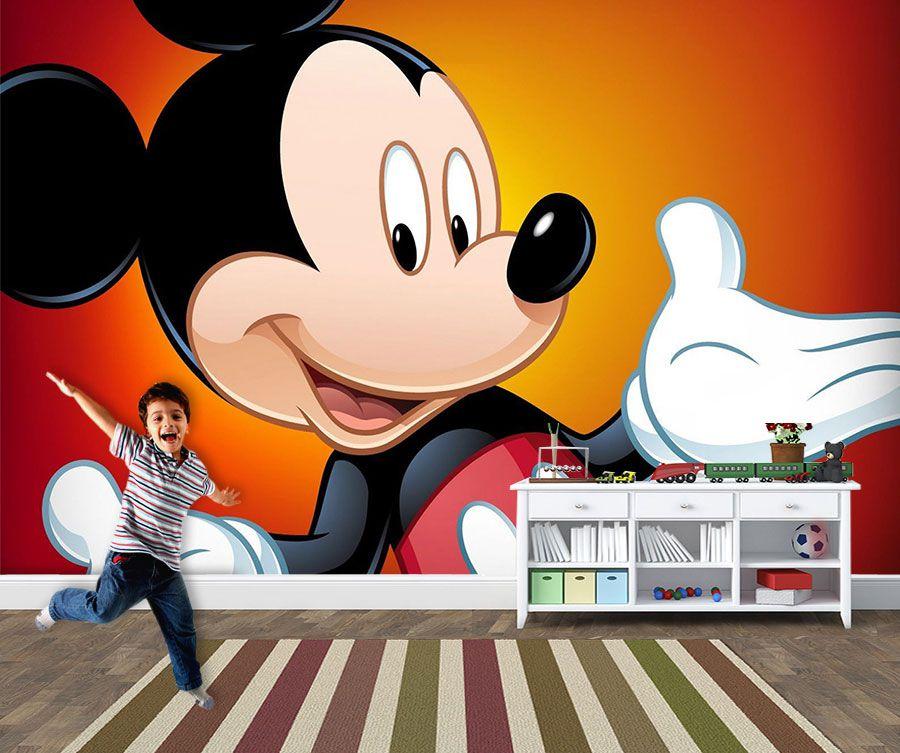 Papel de Parede 3D Mickey 0001 - Papel de Parede para Quarto