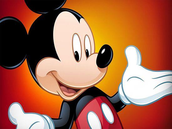 Papel de Parede 3D Mickey 0001 - Papel de Parede para Quarto   - Paredes Decoradas