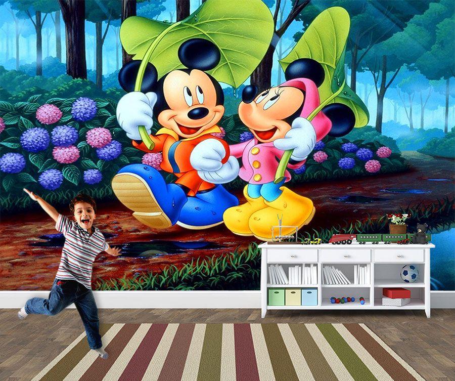 Papel de Parede 3D Mickey 0002 - Papel de Parede para Quarto