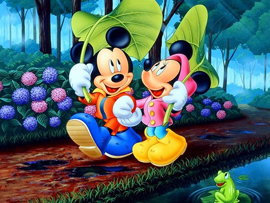 Papel de Parede 3D Mickey 0002 - Papel de Parede para Quarto   - Paredes Decoradas