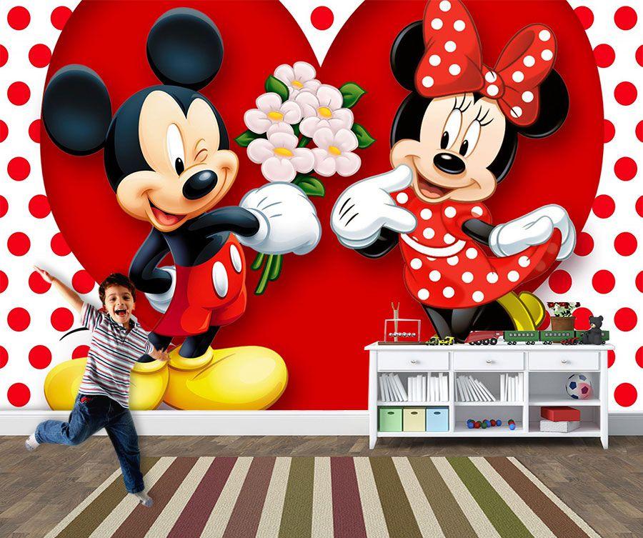 Papel de Parede 3D Mickey 0003 - Papel de Parede para Quarto