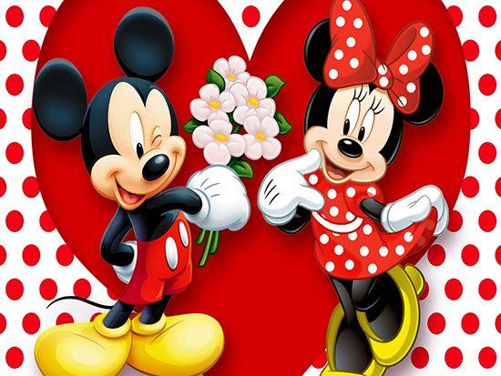 Papel de Parede 3D Mickey 0003 - Papel de Parede para Quarto   - Paredes Decoradas