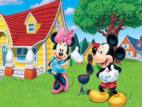 Papel de Parede 3D Mickey 0004 - Papel de Parede para Quarto   - Paredes Decoradas