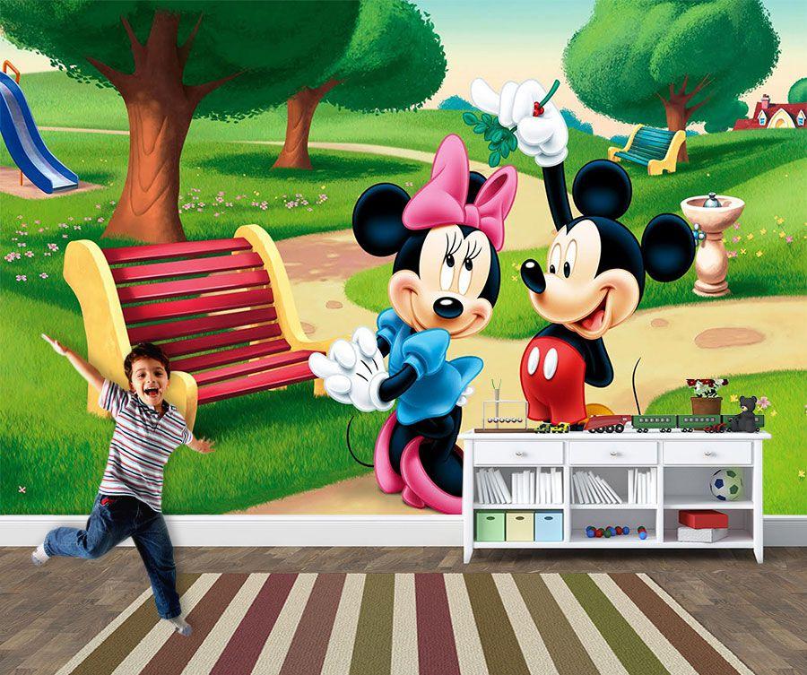 Papel de Parede 3D Mickey 0005 - Papel de Parede para Quarto   - Paredes Decoradas