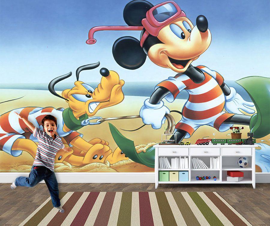 Papel de Parede 3D Mickey 0008 - Papel de Parede para Quarto   - Paredes Decoradas