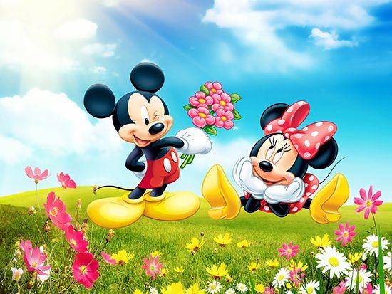 Papel de Parede 3D Mickey 0009 - Papel de Parede para Quarto   - Paredes Decoradas