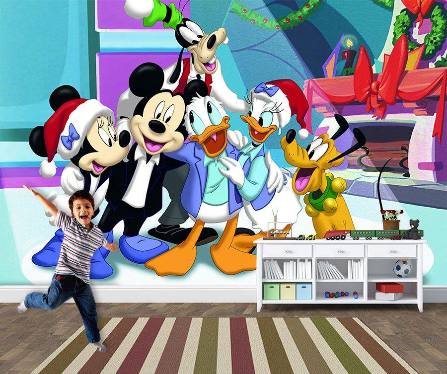 Papel de Parede 3D Mickey 0011 - Papel de Parede para Quarto