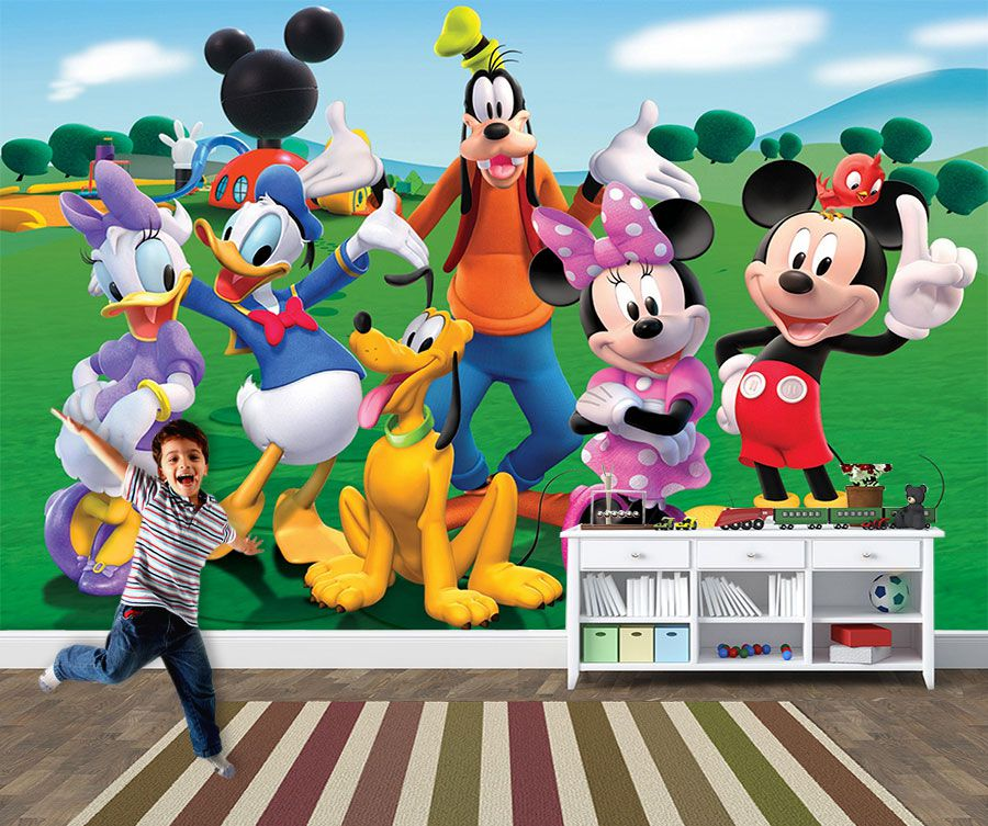 Papel de Parede 3D Mickey 0012 - Papel de Parede para Quarto