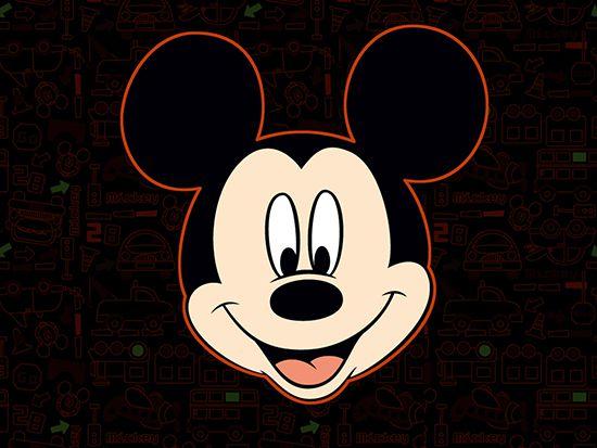 Papel de Parede 3D Mickey 0013 - Papel de Parede para Quarto   - Paredes Decoradas