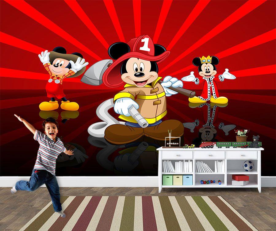 Papel de Parede 3D Mickey 0015 - Papel de Parede para Quarto