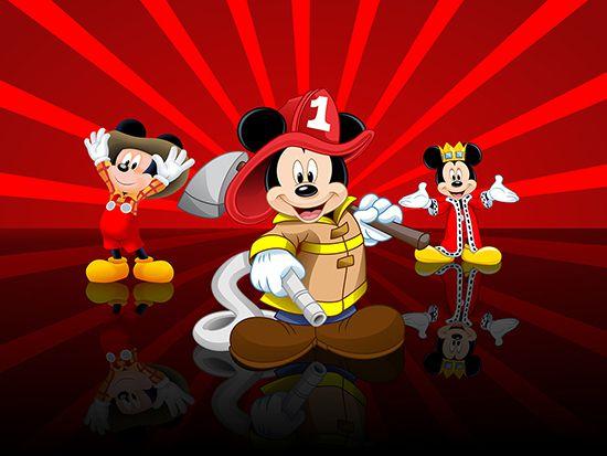 Papel de Parede 3D Mickey 0015 - Papel de Parede para Quarto   - Paredes Decoradas