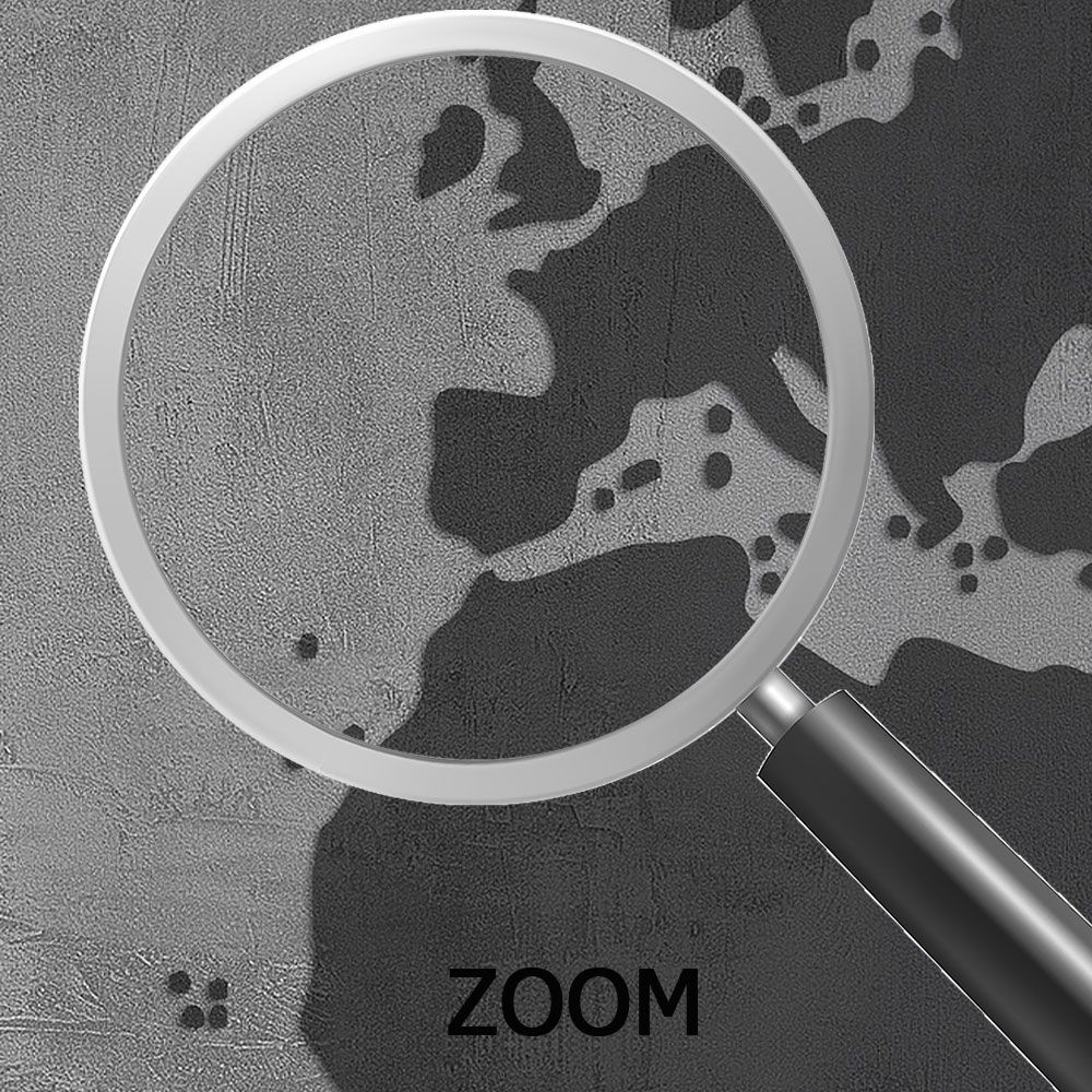 Papel de Parede 3D Adesivo de Parede Mapa Mundi 0003  - Paredes Decoradas