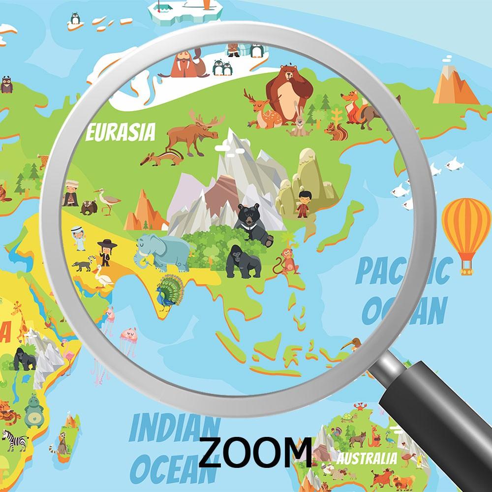 Papel de Parede 3D Adesivo de Parede Mapa Mundi 0015  - Paredes Decoradas