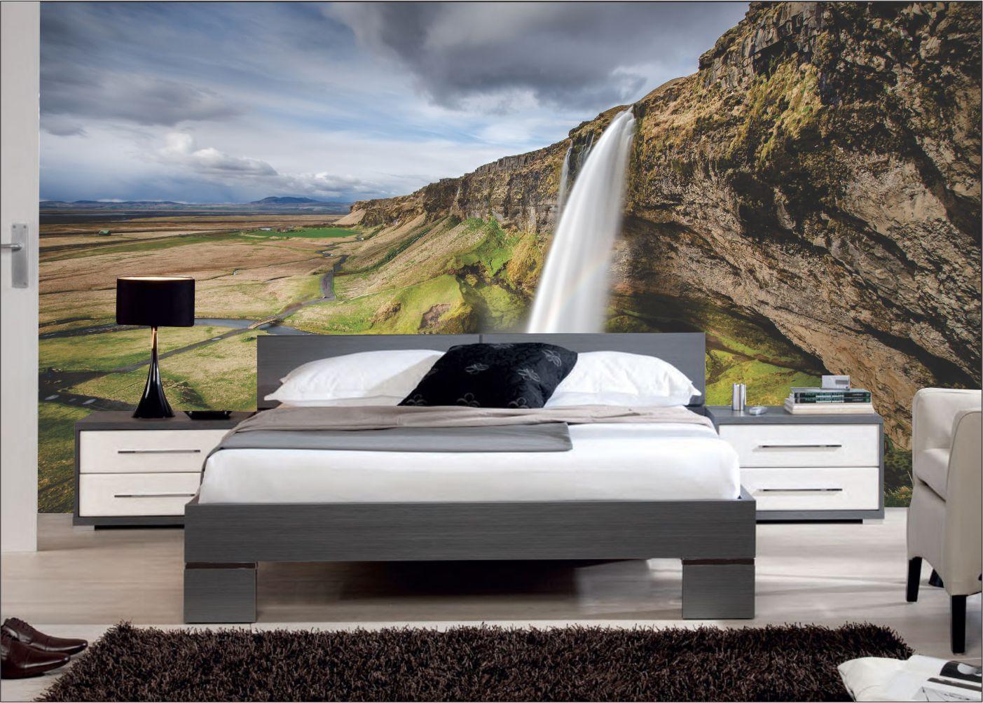 Papel De Parede 3D | Cachoeiras 0001 - papel de parede paisagem  - Paredes Decoradas